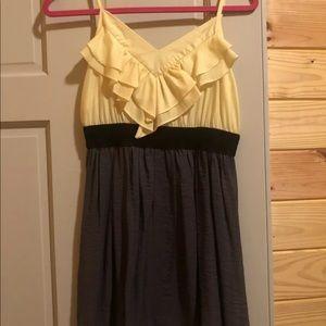 Ya Yellow And Grey Dress Medium